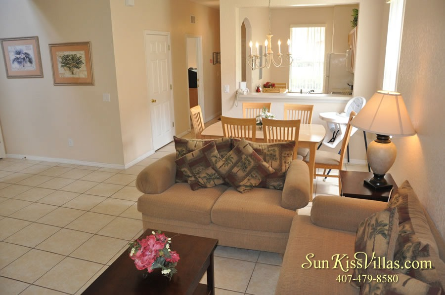 Vacation Townhouse Rental Disney - Trade Winds - Family Room