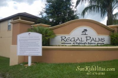 Regal Palms - Disney Vacation Town Home Rental Community